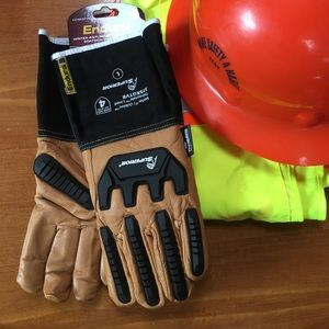 Other - NWT! LG Goatskin leather safety work gloves